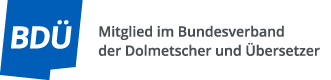 Logo BDÜ Mitglied